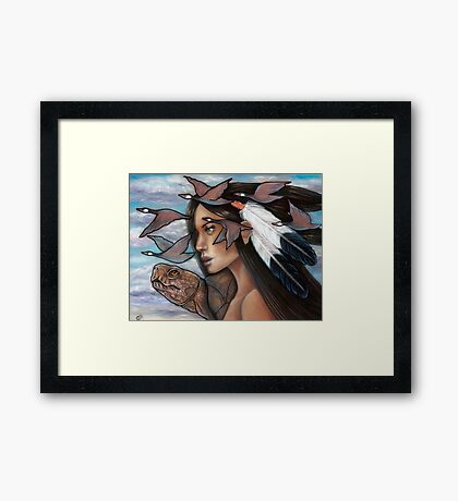 Sky Woman Iroquois Mother Goddess Framed Print