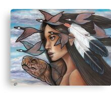 Sky Woman Iroquois Mother Goddess Metal Print