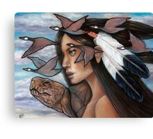 Sky Woman Iroquois Mother Goddess Canvas Print