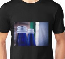 Gray stopper bottle of sparkling water blue glass Unisex T-Shirt