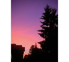 Purple and pink sunset Photographic Print