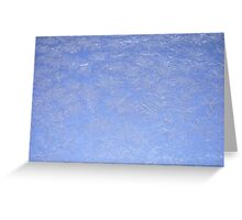 Winter frosted glass Greeting Card