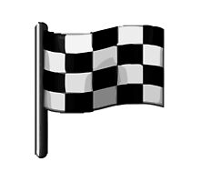 Chequered Flag Apple / WhatsApp Emoji by emoji