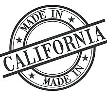 Made In California Stamp Style Logo Symbol Black by surgedesigns