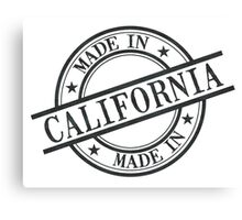 Made In California Stamp Style Logo Symbol Black Canvas Print
