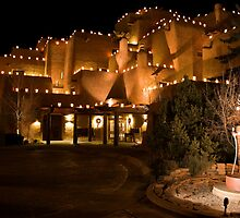 La Fonda Hotel at Christmas  by Mitchell Tillison