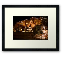 La Fonda Hotel at Christmas  Framed Print