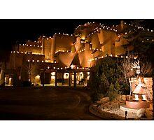 La Fonda Hotel at Christmas  Photographic Print