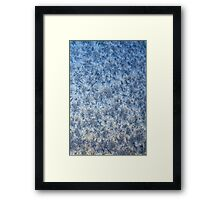 Winter frosted glass 3 Framed Print