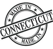 Made In Connecticut Stamp Style Logo Symbol Black by surgedesigns