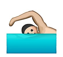 Swimmer Apple / WhatsApp Emoji by emoji
