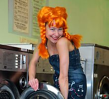 Helen at the Laundrette 2 by fasteddie42