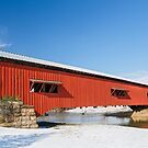 Bridgeton Covered Bridge at Christmas by Kenneth Keifer