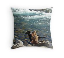 Rivers, Kids & Dogs II Throw Pillow