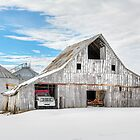 Winter White Barn by Kenneth Keifer