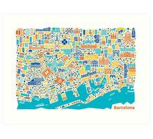 Barcelona City Map Poster Art Print