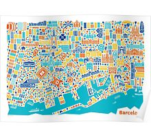 Barcelona City Map Poster Poster