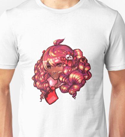Big Pink Curls and Skulls Unisex T-Shirt