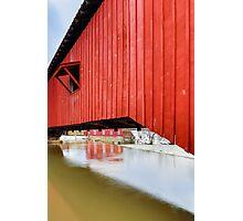 Covered Bridge at Bridgeton Photographic Print