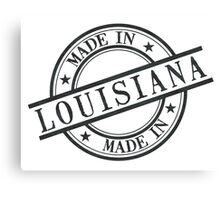 Made In Louisiana Stamp Style Logo Symbol Black Canvas Print