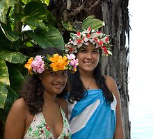 Two sisters in Papeete by Gerard Rotse
