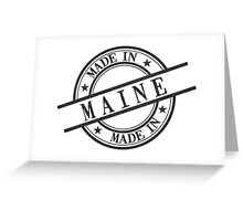Made In Maine Stamp Style Logo Symbol Black Greeting Card