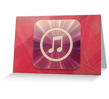 The Music of Purple and Pink   Greeting Card