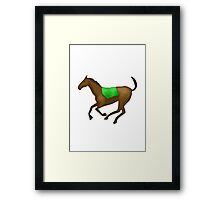 Horse Apple / WhatsApp Emoji Framed Print