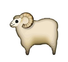 Sheep Apple / WhatsApp Emoji by emoji