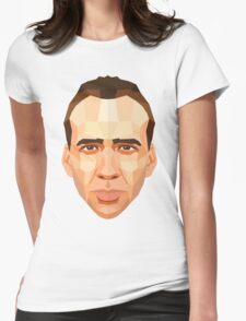 Nicolas Cage Womens Fitted T-Shirt