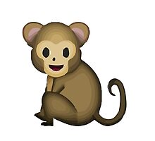 Monkey Apple / WhatsApp Emoji by emoji