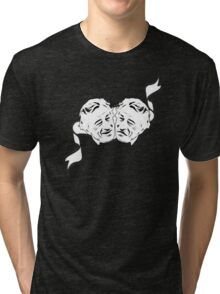 Robert De Niro Comedy and Tragedy Mask -- FUNNY Tri-blend T-Shirt