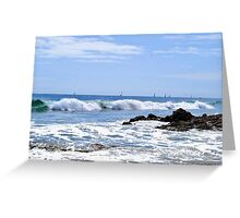 Sails in the distance Greeting Card