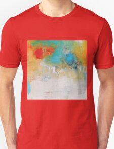 Abstract Blue Orange Art Print Unisex T-Shirt