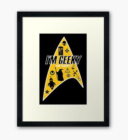 I am Geeky Framed Print