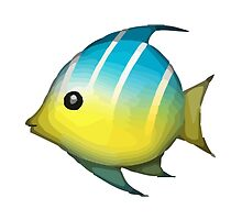 Tropical Fish Apple / WhatsApp Emoji by emoji