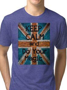 Keep Calm and Think Big message Tri-blend T-Shirt