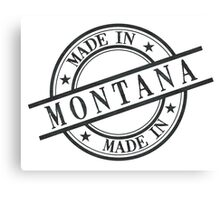 Made In Montana Stamp Style Logo Symbol Black Canvas Print