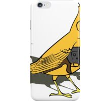 Budgie with a Gun Yellow iPhone Case/Skin