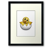 Hatching Chick Apple / WhatsApp Emoji Framed Print