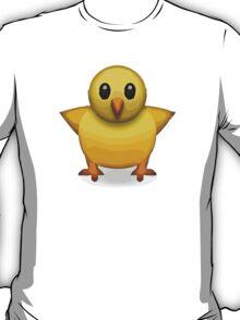 Front-Facing Baby Chick Apple / WhatsApp Emoji T-Shirt
