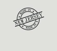 Made In New Jersey Stamp Style Logo Symbol Black Unisex T-Shirt
