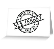 Made In New Jersey Stamp Style Logo Symbol Black Greeting Card