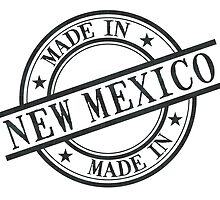 Made In New Mexico Stamp Style Logo Symbol Black by surgedesigns