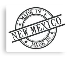 Made In New Mexico Stamp Style Logo Symbol Black Canvas Print