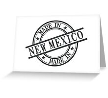 Made In New Mexico Stamp Style Logo Symbol Black Greeting Card