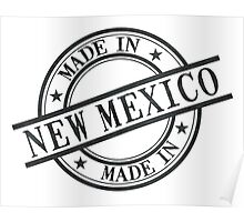 Made In New Mexico Stamp Style Logo Symbol Black Poster