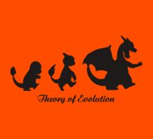 Darwin - Theory Evolution - Charmander - pokemon Kids Clothes
