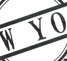 Made In New York Stamp Style Logo Symbol Black Sticker
