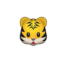 Tiger Face Apple / WhatsApp Emoji Photographic Print